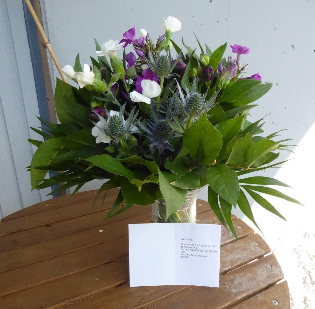 Blomster fra patient